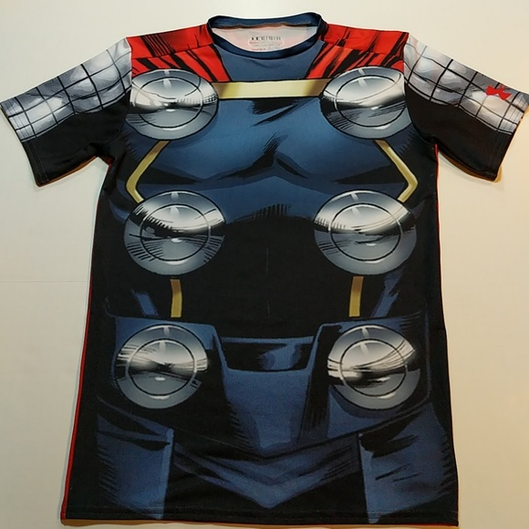 fashion styles up-to-date styling a few days away Under Armour Marvel collection compression t-shirt